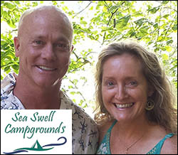 Scott Warren and Catherine Plourde welcome you to Megunticook Campground in Maine a SeaSwell Campground